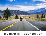 travelling on highway 395 on a... | Shutterstock . vector #1197186787