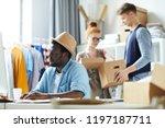 young african american designer ... | Shutterstock . vector #1197187711