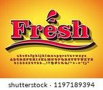 premium old 3d retro vintage... | Shutterstock .eps vector #1197189394