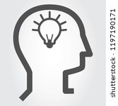 idea icon vector isolated on...