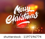 merry christmas and happy new... | Shutterstock .eps vector #1197196774