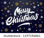 merry christmas vector text... | Shutterstock .eps vector #1197196861