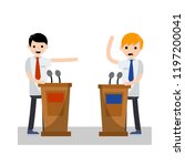 debate between political... | Shutterstock .eps vector #1197200041