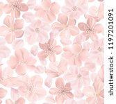floral retro seamless pattern ... | Shutterstock .eps vector #1197201091