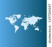 vector map of world   Shutterstock .eps vector #1197204337