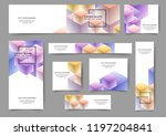 set of abstract web banner... | Shutterstock .eps vector #1197204841