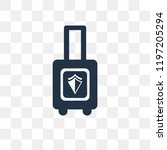 baggage vector icon isolated on ... | Shutterstock .eps vector #1197205294
