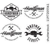 handyman labels  badges ... | Shutterstock .eps vector #1197205561