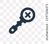zoom in vector icon isolated on ... | Shutterstock .eps vector #1197206371