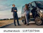 business woman and businessman... | Shutterstock . vector #1197207544
