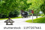 amish horse and buggy going...   Shutterstock . vector #1197207661