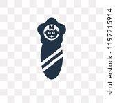 newborn vector icon isolated on ... | Shutterstock .eps vector #1197215914