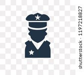 policeman vector icon isolated...   Shutterstock .eps vector #1197218827