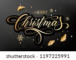 lettering merry christmas and... | Shutterstock .eps vector #1197225991
