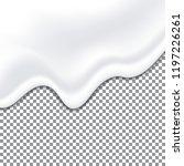 realistic yogurt white texture. ...   Shutterstock .eps vector #1197226261