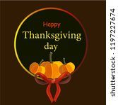 happy thanksgiving typography... | Shutterstock .eps vector #1197227674
