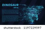 dinosaur of particles. a... | Shutterstock .eps vector #1197229597