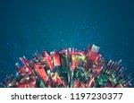 vector abstract 3d crystal. a... | Shutterstock .eps vector #1197230377