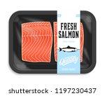 vector salmon packaging...   Shutterstock .eps vector #1197230437