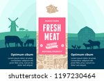 vector meat illustration with... | Shutterstock .eps vector #1197230464