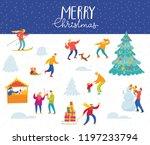 vector christmas poster for... | Shutterstock .eps vector #1197233794