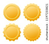 diploma gold seal certificate... | Shutterstock .eps vector #1197233821