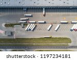 aerial drone view on warehouse... | Shutterstock . vector #1197234181