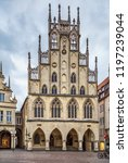 historical city hall of munster ... | Shutterstock . vector #1197239044