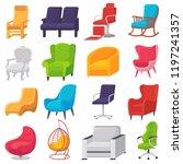 chair vector comfortable... | Shutterstock .eps vector #1197241357