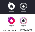 logotype concept. water drop... | Shutterstock .eps vector #1197241477