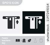 insert credit card flat black...   Shutterstock .eps vector #1197245014