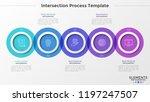 five round translucent elements ... | Shutterstock .eps vector #1197247507
