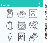 contains such icons as jam ... | Shutterstock .eps vector #1197250534