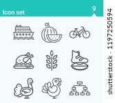 contains such icons as bicycle  ... | Shutterstock .eps vector #1197250594