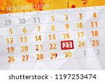 calendar planner for the month  ... | Shutterstock . vector #1197253474