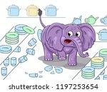 cartoon illustration of a... | Shutterstock .eps vector #1197253654