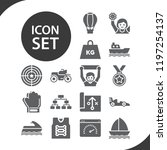 contains such icons as strategy ... | Shutterstock .eps vector #1197254137