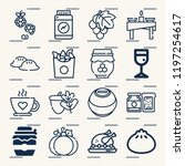 contains such icons as dumpling ... | Shutterstock .eps vector #1197254617