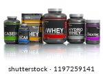 sports  nutrition  supplements  ... | Shutterstock . vector #1197259141