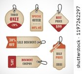vector stickers  price tag ... | Shutterstock .eps vector #1197262297