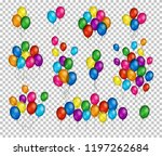 bunches and groups of colorful... | Shutterstock .eps vector #1197262684