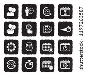 time management icons. grunge...   Shutterstock .eps vector #1197263587