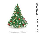christmas tree decorated.... | Shutterstock .eps vector #1197280801