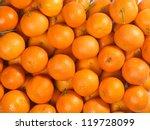 Bunch Of Fresh Mandarin Orange...