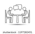 talk people icon  vector people ... | Shutterstock .eps vector #1197282451
