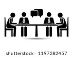 talk people icon  vector people ... | Shutterstock .eps vector #1197282457