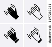 hand wave icons  waving hi or... | Shutterstock .eps vector #1197283261
