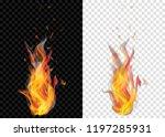two translucent burning... | Shutterstock .eps vector #1197285931