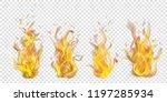 set of translucent burning...   Shutterstock .eps vector #1197285934