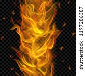 translucent fire flame with... | Shutterstock .eps vector #1197286387